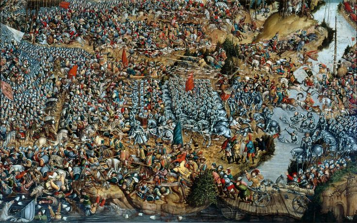 Artist: attributed to Krell, Hans Title: The Battle of Orsha Date: 1525–1535