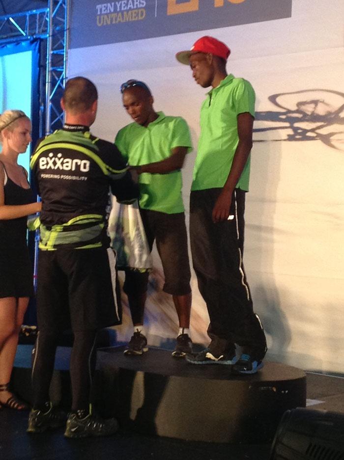 Mellis Waker awarded the Exxaro Development jersey to Siphosenkosi and Azukile again.