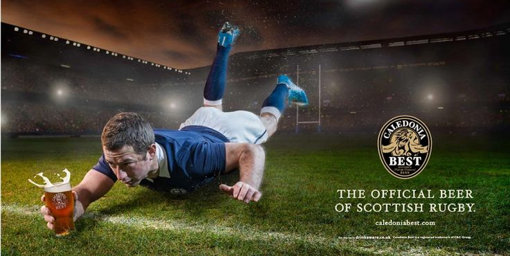 The Six Nations Rugby Championship is with us once again. And at Leith we think that's the perfect excuse for a beer – or beer ad at least. Like this one we created for Caledonia Best, the official beer sponsor of Scottish Rugby.  Like the best tries in rugby it's a simple, free-flowing affair: an action image featuring Scotland's very own scrum-half Greg Laidlaw slamming home a try with a frothy pint of Caledonia Best. Lovely.