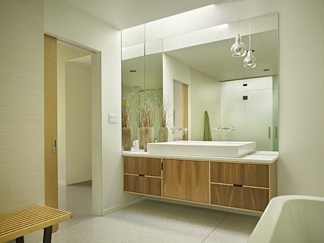 Image On DeForest Architects Mid Century BathroomFloating VanityFloating