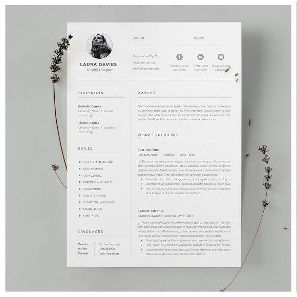 Word Resume Template Lebenslauf Leben Bewerbung