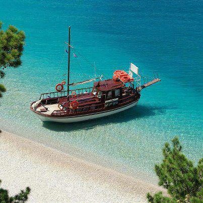 Karpathos Greece - Apella beach  Jumped off this boat on vacation