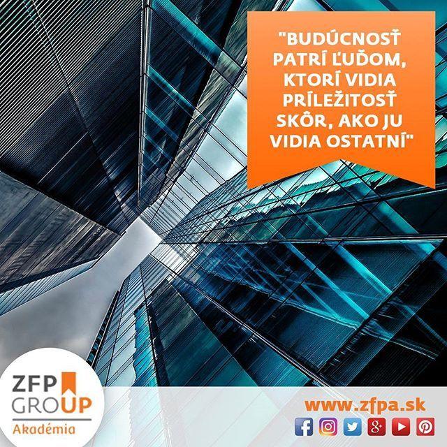 A ako ste na tom vy ?  #vidim #prilezitost #skor #ako #druhy #motivation #motivacia #zfpa #zfpakademia #business