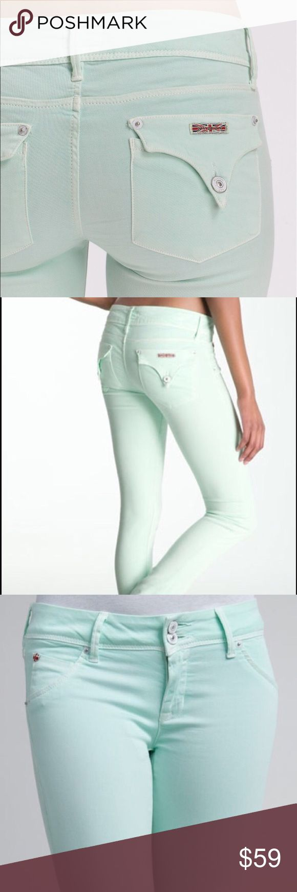 Hudson Mint Green Jeans. Size 26 Hudson Mint Green Jeans. Size 26.  Sup r cute and great for all year. Worn once and washed once. Excellent condition.   Bundle 2 or more items and save 25%. Hudson Jeans Jeans Skinny