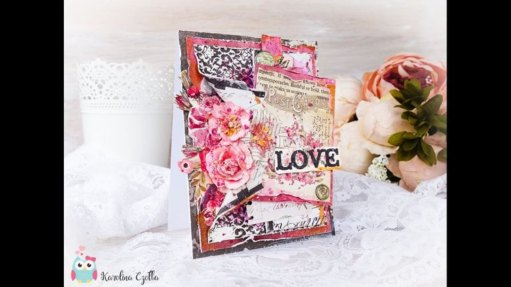 LOVE CARD - cardmaking tutorial by Karolina Czołba