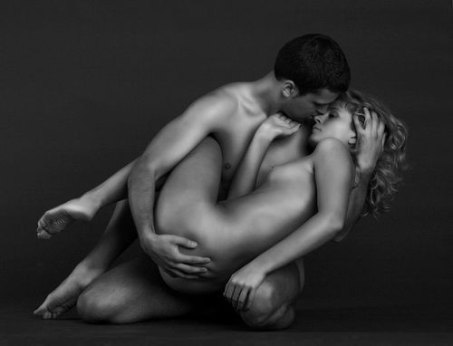 /: Sensual Couple, Angel, Kiss, Sexy, Art Photography, Beautiful, Black White, Good, Nudes