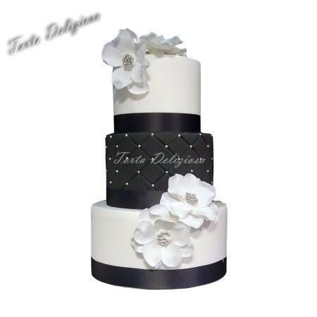 Wedding cake Black and white Bruidstaarten zwart wit