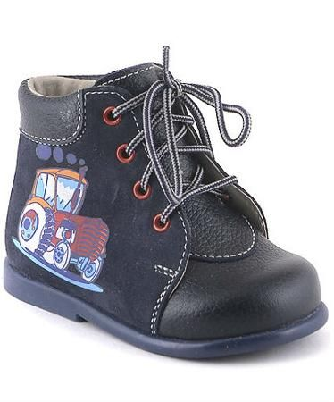 Скороход трактор темно-синие для мальчика  — 1019р. ------------ Ботинки  темно-синие с декором Трактор – это первая обувь для вашего малыша. Ботинки входят коллекцию «Первый шаг» и имеют рекомендацию детского ортопедического института им. Г.И.Турнера. Модель создана на основе результатов тест-экспертизы колодок научно...