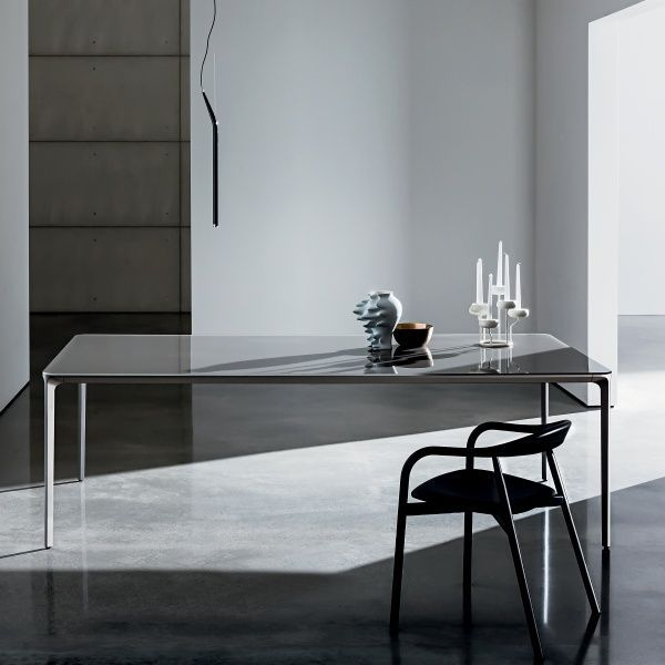 Extendable Design Glass Table Slim Sovet Furniture Design