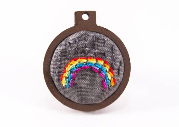 Hey, I found this really awesome Etsy listing at https://www.etsy.com/au/listing/546365421/mini-embroidery-hoop-art-with-rainbow