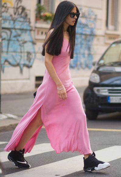 Gilda Ambrosio vestito rosa #streetstyle #style #fashion