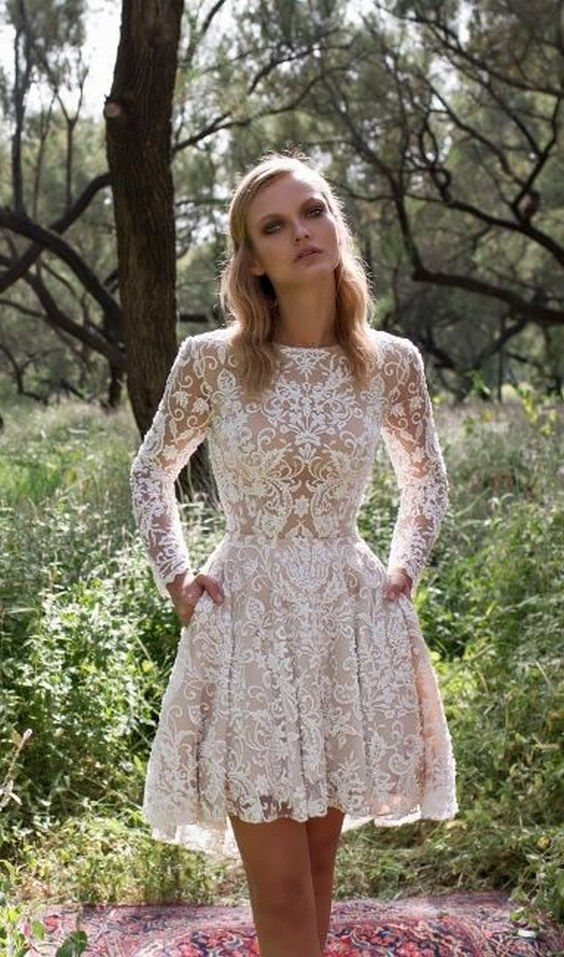 limor rosen short wedding dress kylie / http://www.himisspuff.com/rehearsal-dinner-short-wedding-dresses/5/
