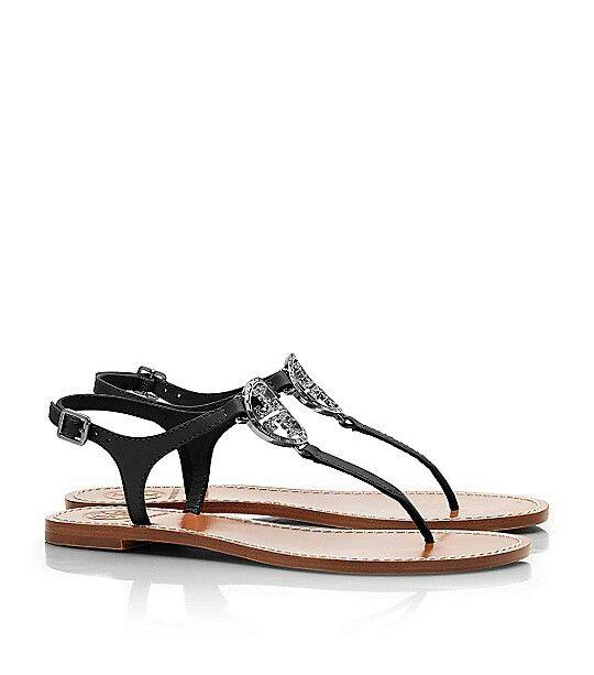 Nice! !!! Shoes Flats SandalsFlat SandalsThongsFashion StylesShoes  StyleVioletsNiceTory BurchDesigner Shoes