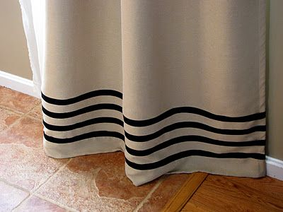 Quick, Easy Curtain Panel Update with No Sewing ~ Maxwell House Interiors - DIY Show Off ™ - DIY Decorating and Home Improvement Blog