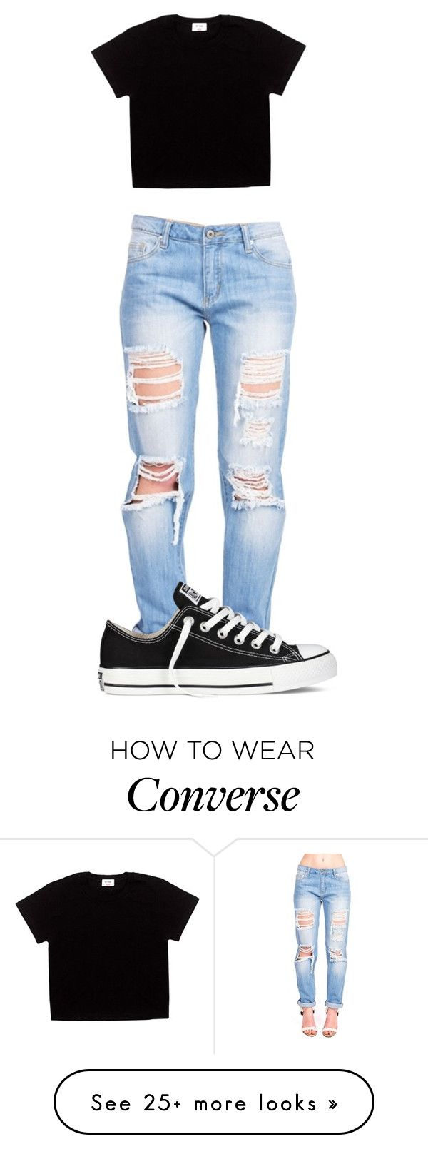 """Untitled #435"" by shiane816 on Polyvore featuring Converse"