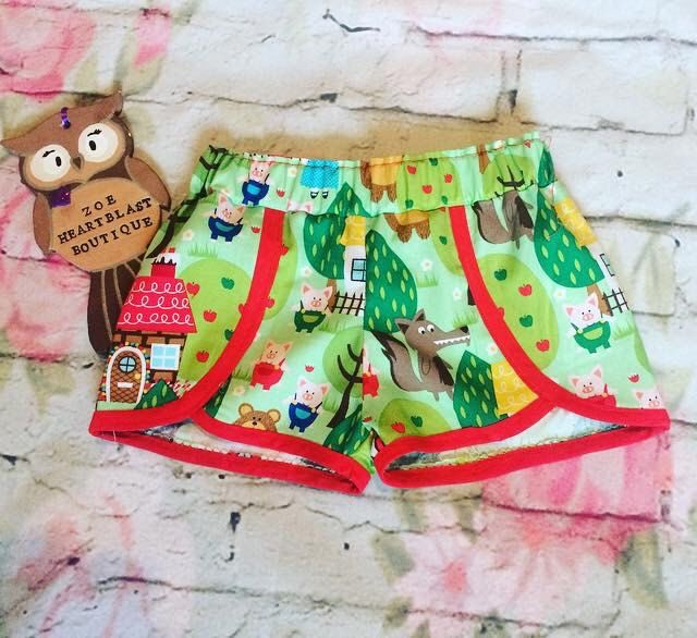 A personal favourite from my Etsy shop https://www.etsy.com/uk/listing/246476633/little-red-riding-hood-shorts-nursery