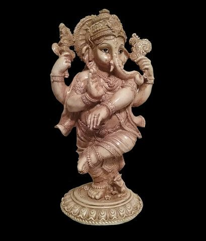 Dancing Lord Ganesha. Statue Figurine. Overcome Obstacles Success Wealth.