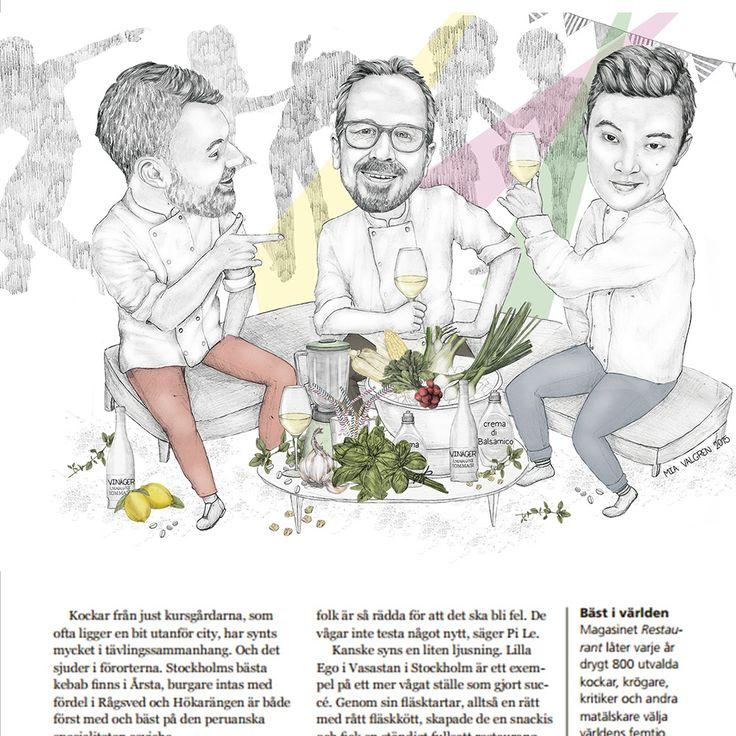 Mia Valgren Illustration för tidningen Stockholmsregionen