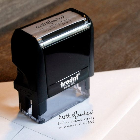 Personalized Wedding Return Address Stamp Self Inking