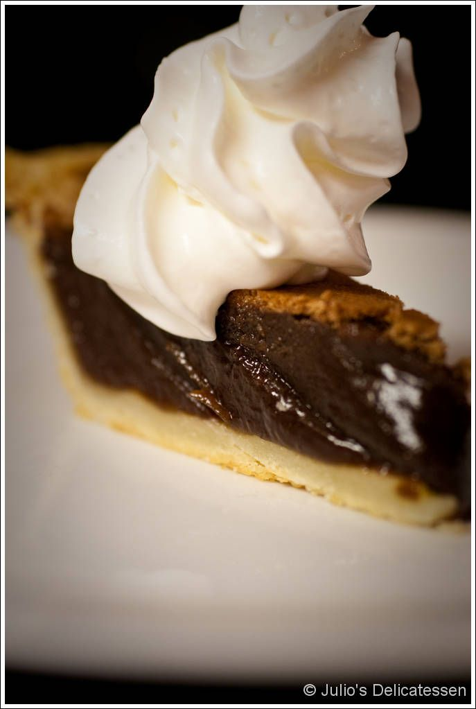 Angus Barn's Chocolate Chess Pie.   I literally have to make 2 of these pies whenever I bake them.  They never last and its ridiculously easy!