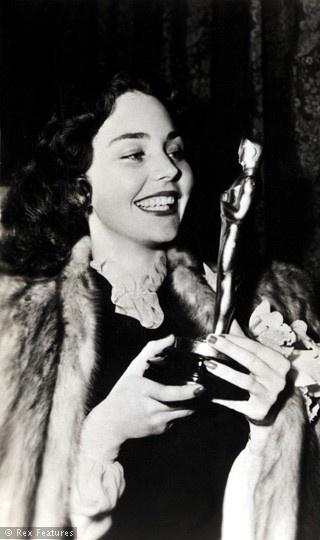 "1943 - JENNIFER JONES  best actress Oscar winner for her performance in  ""The Song of Bernadette"""