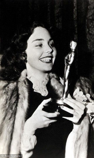 "1943 - JENNIFER JONES  best actress Oscar winner for her performance in  ""The Song of Bernadette"""