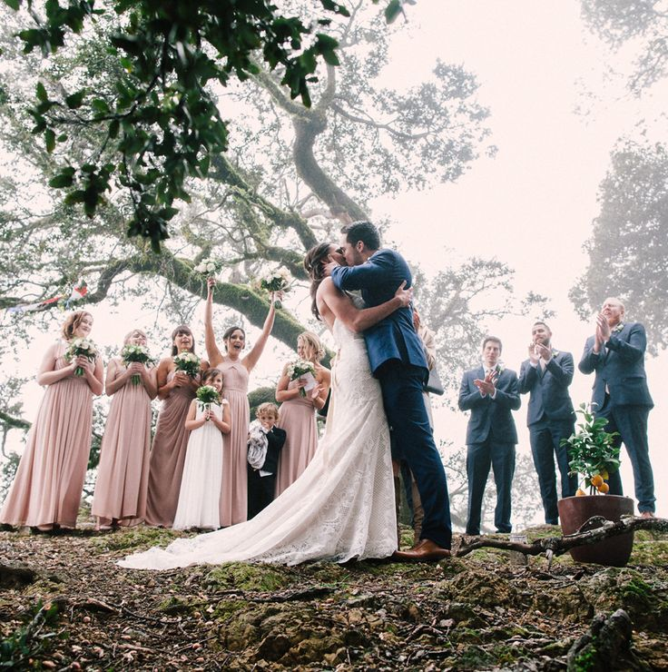 Rainy day wedding in the woods of Mill Valley. Photo by Arnau DuBois. WE just loved this couple.