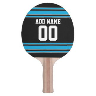 Black Blue Sports Jersey with Your Name and Number Ping-Pong Paddle