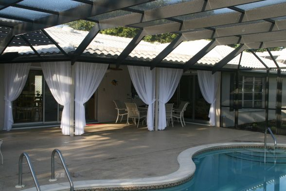 decorating a lanai in florida | created outdoor room, I decided to enclose the eating area on my lanai ...