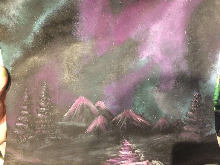 Galaxy landscape art