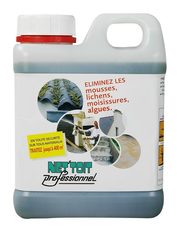 NET´TOIT professionnel   Produit anti mousse, Anti mousse toiture