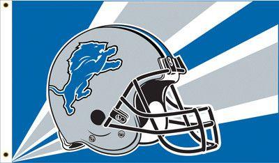 The Detroit Lions Helmet Flag measures 3Ft x 5Ft