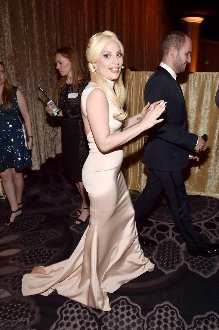 Pin for Later: Lady Gaga, Leonardo DiCaprio & Co. geben einen Vorgeschmack auf die Oscars Lady Gaga