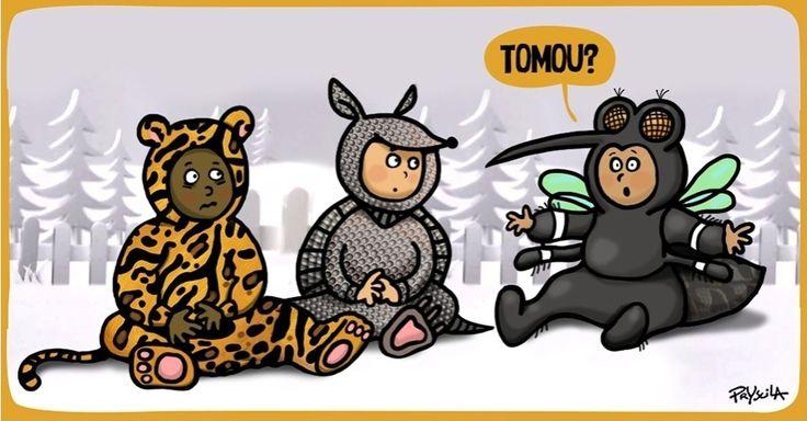 A cartunista Pryscila brinca com o relançamento do comercial da Parmalat, que utiliza típicos animais da fauna brasileira, e inclui o mosquito da dengue entre eles