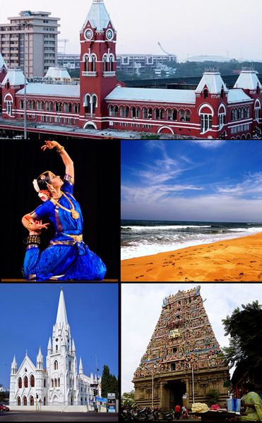 "Chennai (Madras), India --- The ""Singara"" (beautiful) Chennai from where I am originally. This city is located on the southern coastal region of India."
