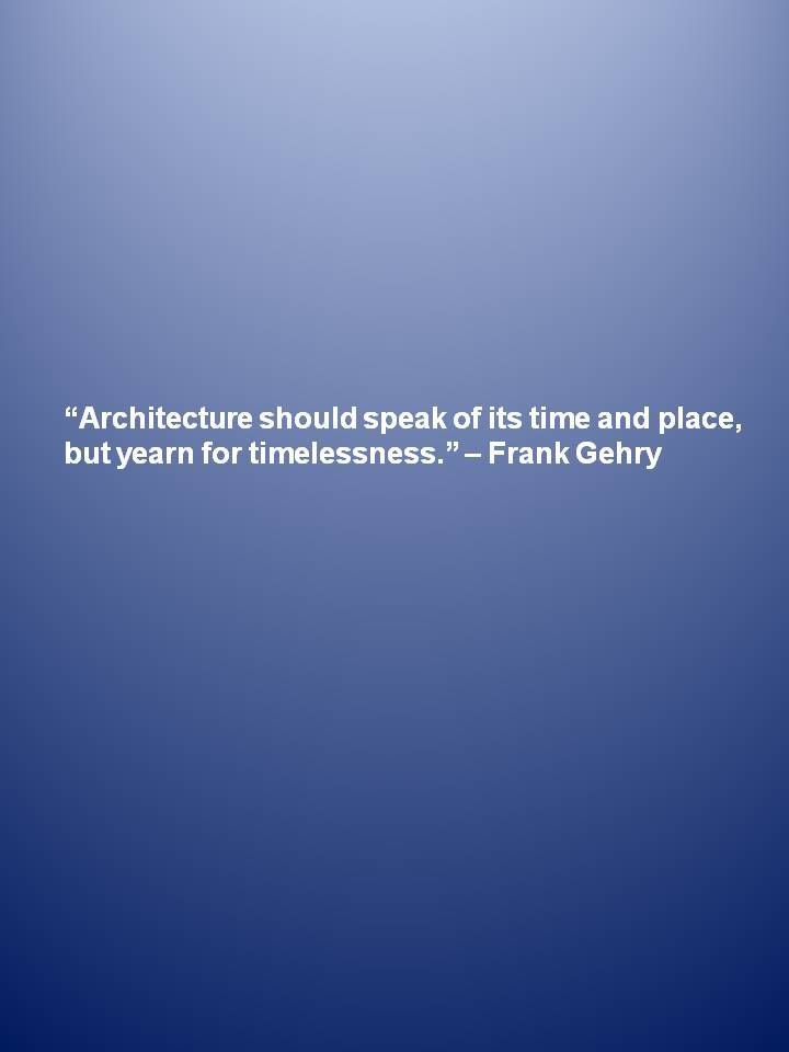 Great #architecture quote about #timelessness