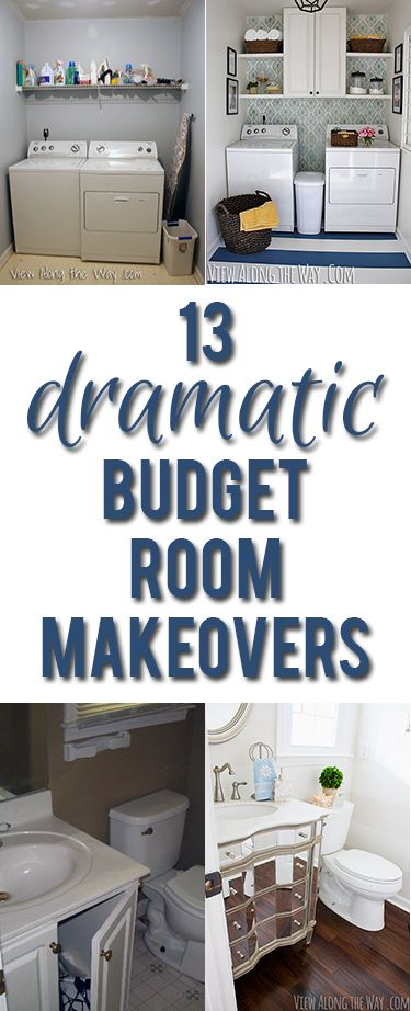 Inspiring before-and-after room reveals you can recreate on a budget! SO many cool DIY ideas!: