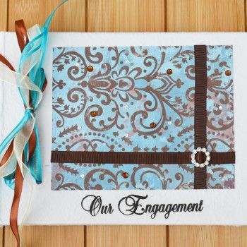 Turquoise and Bronze 40th Birthday Guest Book