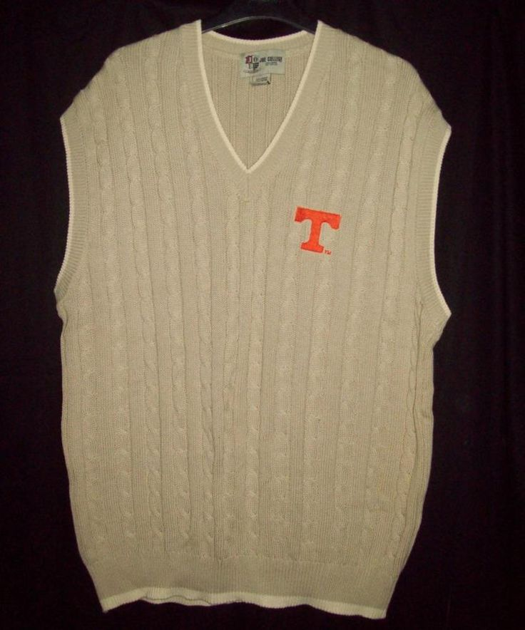 Tennessee UT Vols Joe College Sports Men's Sweater Vest XL X-Large Embroidered T #JoeCollegeSports