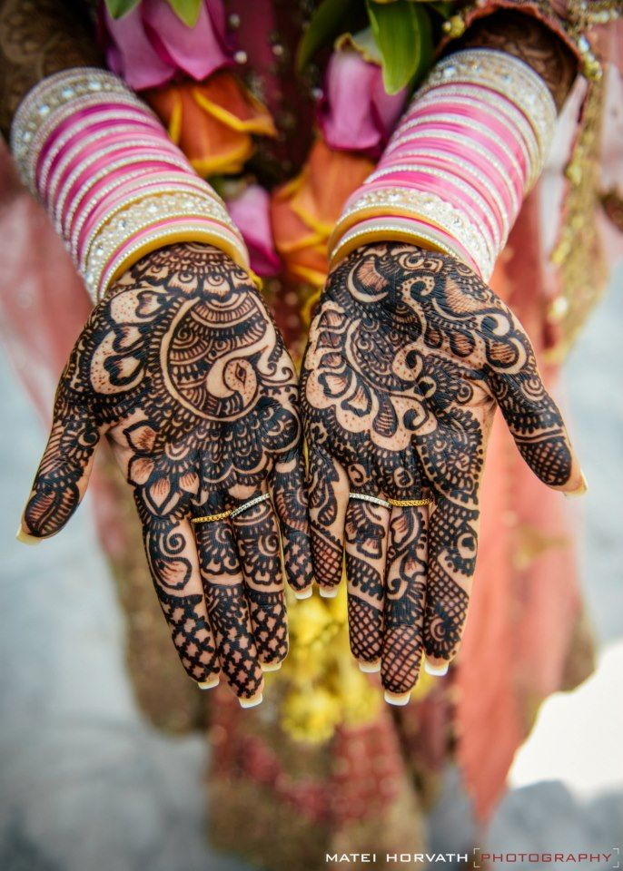 Beautiful Indian Brides #mehndi #henna
