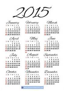 daily calendar 2015 printable