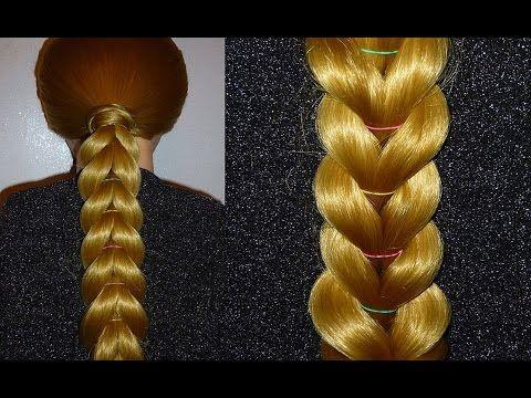 Zopf Frisur selber machen für mittel/lange Haare.Frisuren für die Schule.Braid Hairstyle.Penados - YouTube