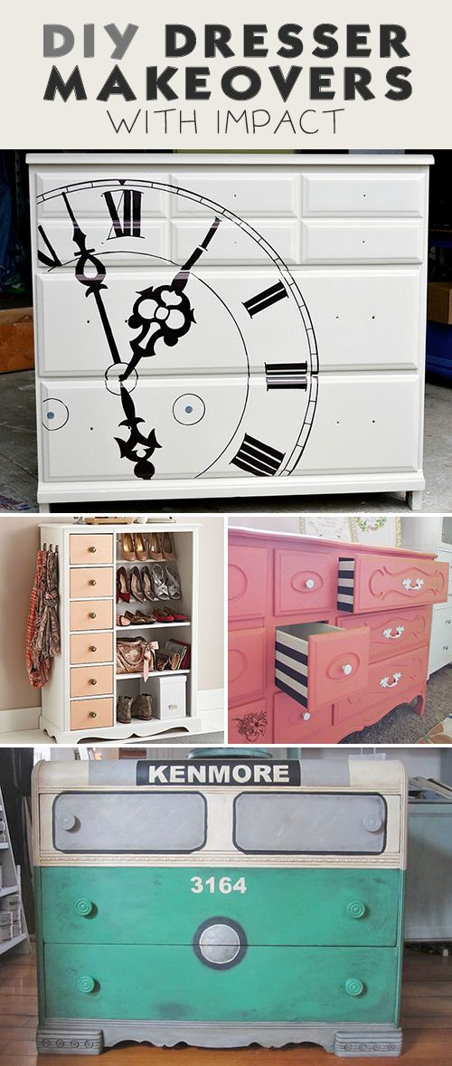 DIY Dresser Makeovers with Impact! • Cool projects and tutorials that you can do yourself!