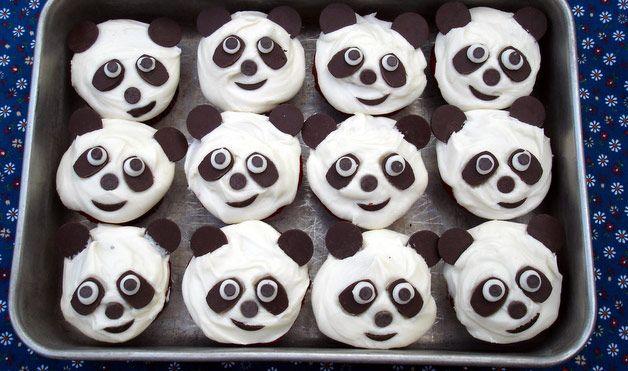 Panda Bear Cupcakes.