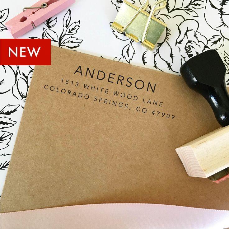 how to return address wedding envelopes%0A Return Address Stamp  Self Inking Return Address Stamp  Address Stamps   Self Ink