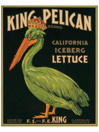 King Pelican Brand California Iceberg Lettuce Premium Giclee Print