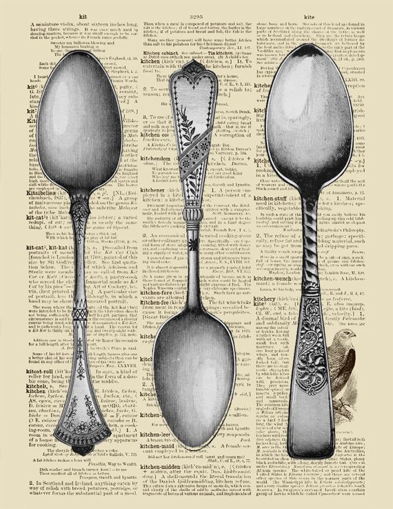 printable dictionary spoon art  ⊱✿-✿⊰ Join 4,000 others & follow the Free Digital Scrapbook board for daily freebies. Visit GrannyEnchanted.Com for thousands of digital scrapbook freebies. ⊱✿-✿⊰
