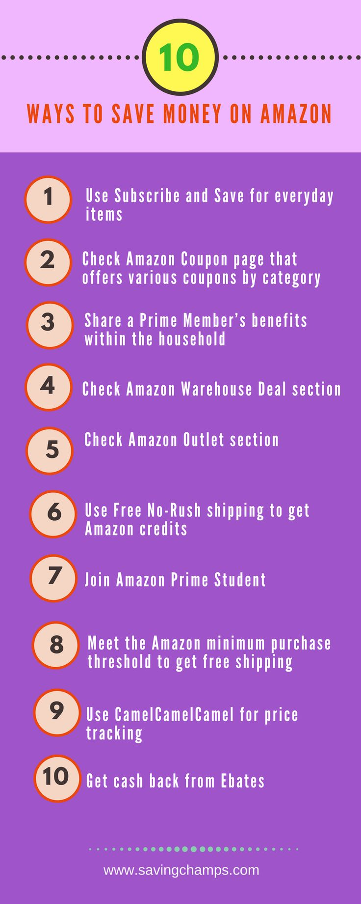 Here are 10 great ways to save money on Amazon. Learn tips on how to save money on online shopping. Money-saving tips, shopping tips, cashback.