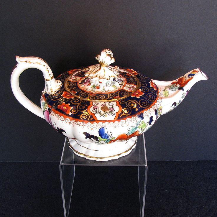Rare C.J. Mason Bone China Teapot English Imari Antique c 1835 & 47 best English Imari Antique 19th C images on Pinterest | Ruby ...