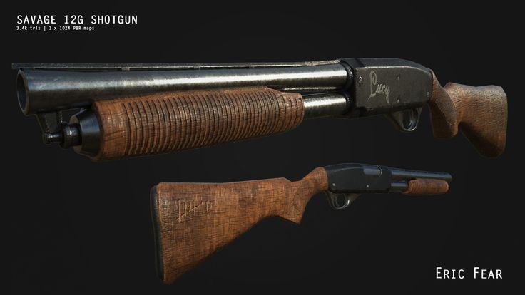 ArtStation - Savage 12G Shotgun - game weapon, Eric Fear